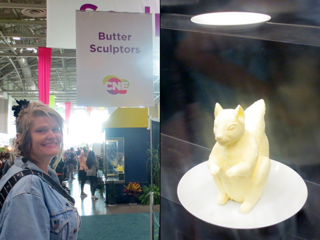 butter sculpting at the cne toronto