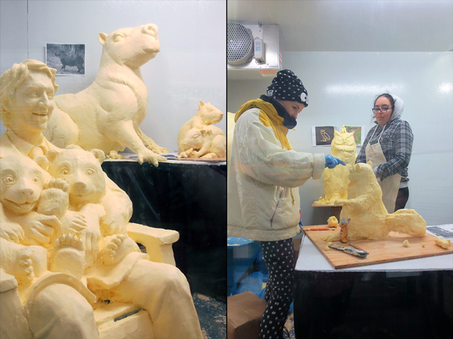 butter sculptors at the cne toronto