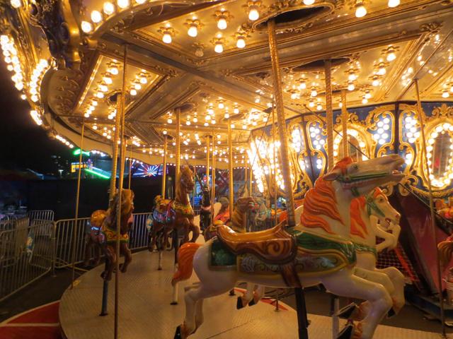 carousel at night cne toronto