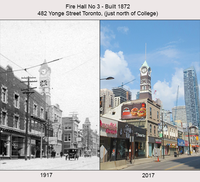 comparison then and now firehall on yonge street built 1872