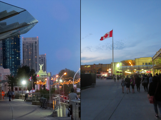 dusk at the cne toronto