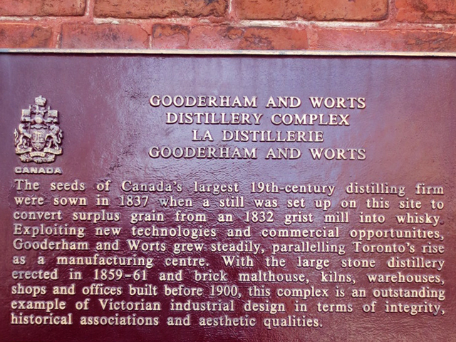 gooderham and worts distillery district sign