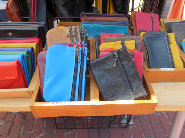 handmade leather wallets by philamain at artfest ontario distillery district toronto