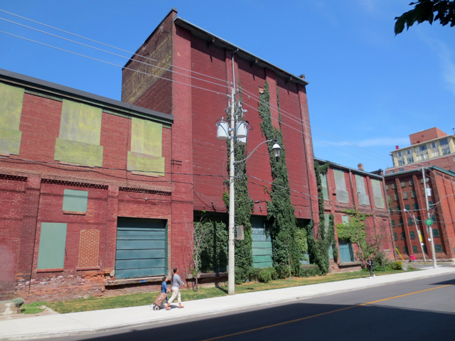 historic buildings in old toronto near distillery district