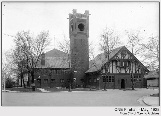 historic photograph toronto cne firehall 1928