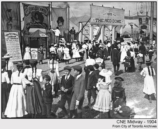historic photograph toronto cne midway 1904