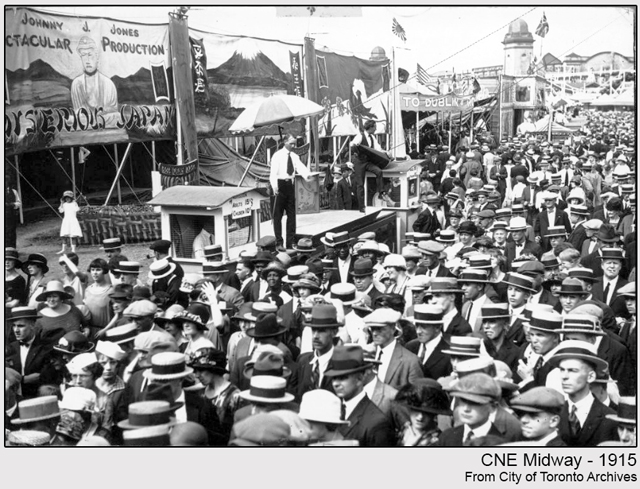 historic photograph toronto cne midway 1915
