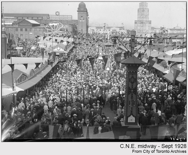 historic photograph toronto cne midway 1928