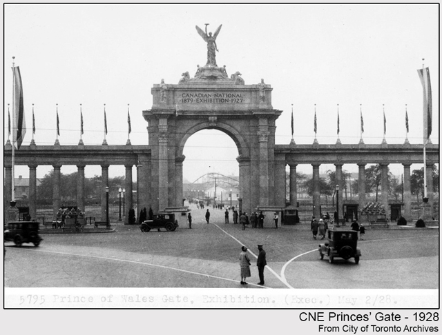 historic photograph toronto cne princes gate 1928