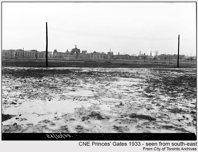 historic photograph toronto cne princes gate seen from afar 1933