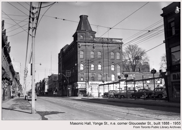 historic photograph toronto masonic hall yonge and gloucester
