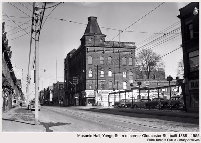 historic photograph toronto masonic hall yonge and gloucester