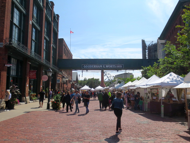 in distillery district toronto during artfest ontario