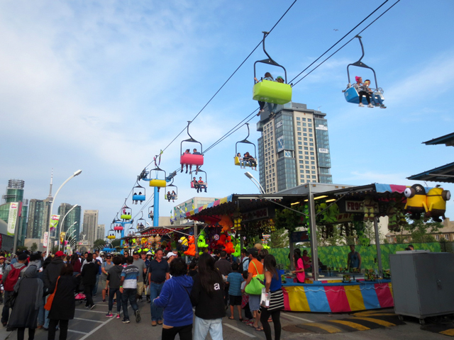 midway at canadian national exhibition toronto