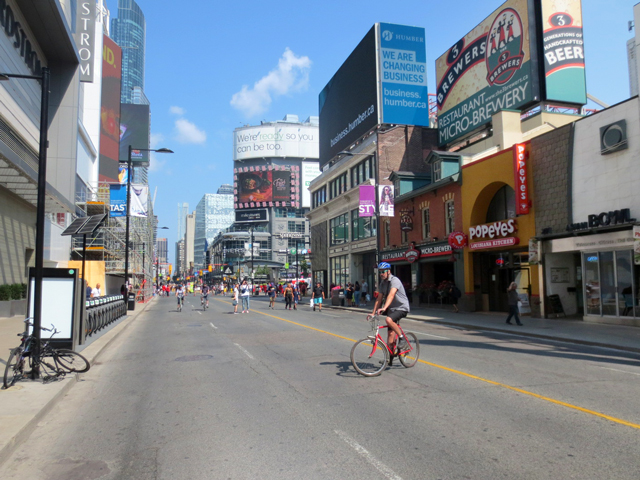 riding bikes on yonge street toronto streets open event 2017