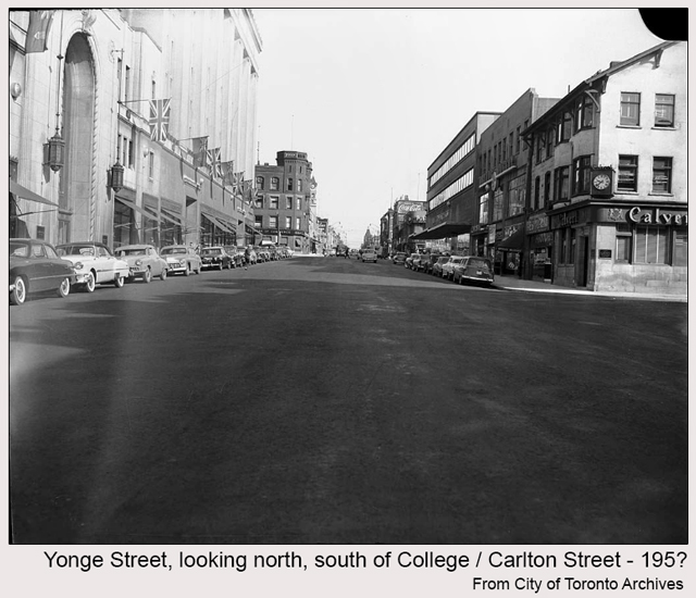 toronto historic photograph yonge street south of college 195somthing