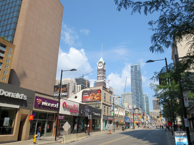 toronto yonge street with no cars for open streets event north of college