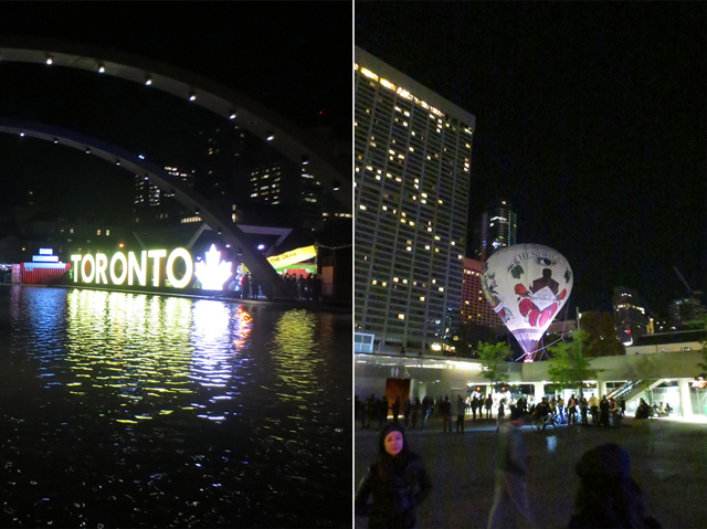 at nathan phillip square toronto during nuit blanche 2017