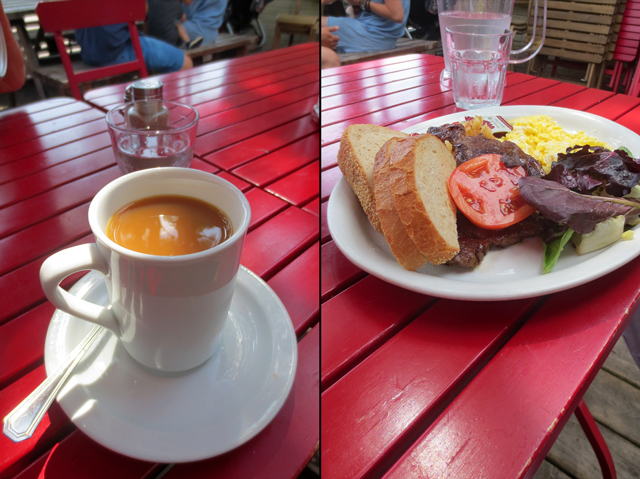 breakfast at kos kensington market toronto