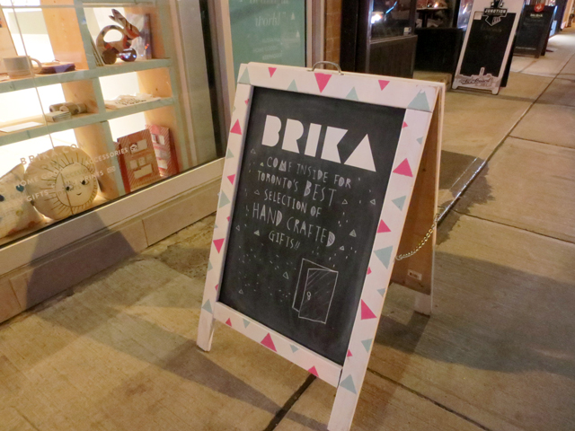 brika shop handmade gifts on queen street west toronto