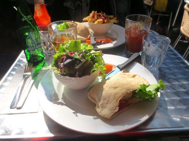 grain burger at queen mother cafe toronto queen street patio veggie burger