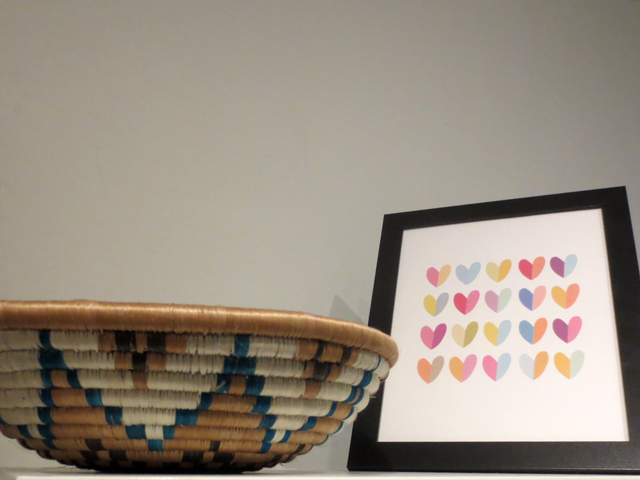handmade basket and print at brika on queen street west toronto