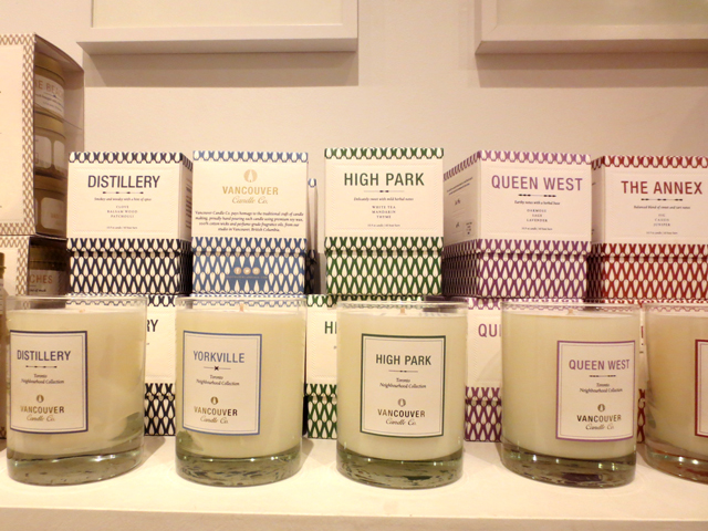 handmade scented candles at brika gift shop queen street west toronto