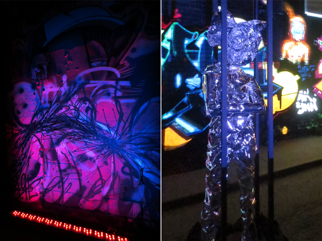 independent project toronto nuit blanche light installation with graffiti