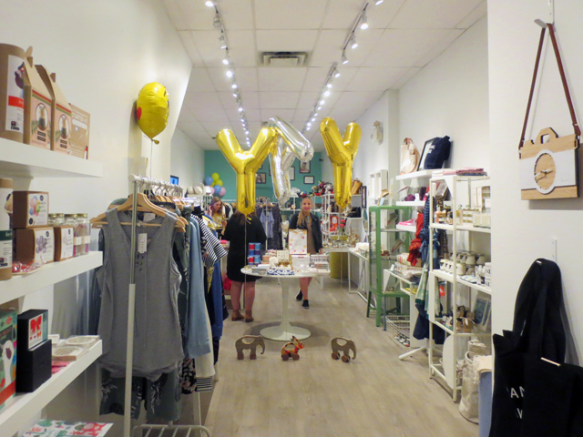 inside brika shop queen street west during smithery clothing pop up