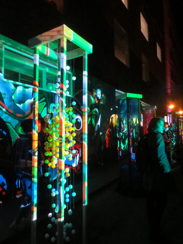 nuit blanche toronto 2017 grafitti alley rush lane disturbing graffiti light installation by studio f minus
