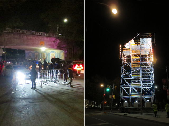 nuit blanche toronto taking to the streets at queens park