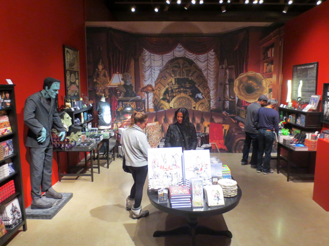 ago gift shop for guillermo del toro exhibition toronto