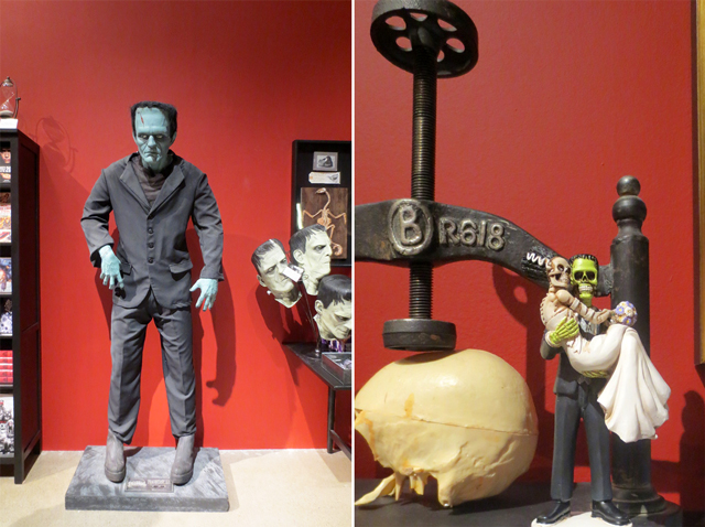 ago pop up gift shop guillermo del toro exhition frankenstein related things