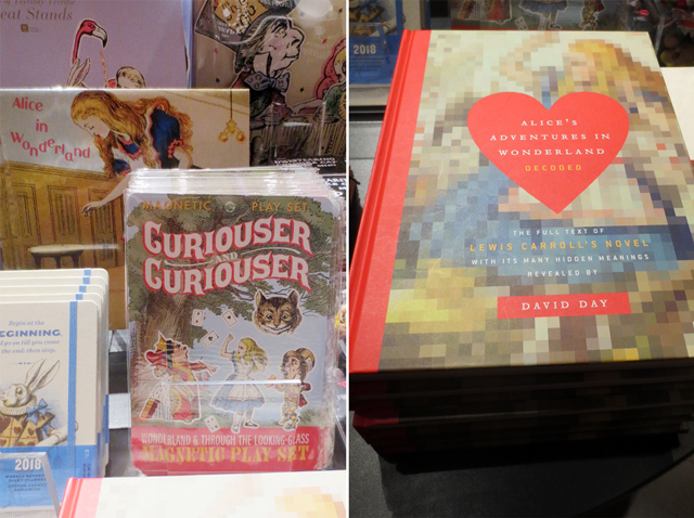 alice in wonderland related gifts at ago pop up shop for at home with monsters guillermo del toro exhibition toronto