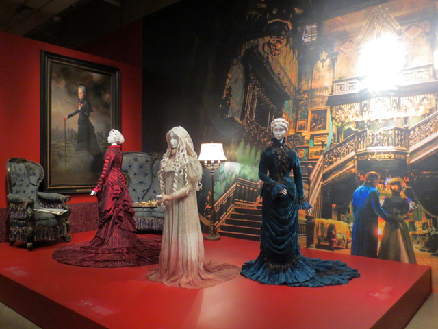 costumes from del toro movie crimson peak at ago toronto at home with monsters exhibition