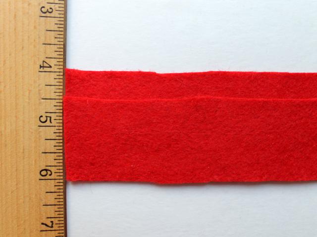 cut two strips of felt