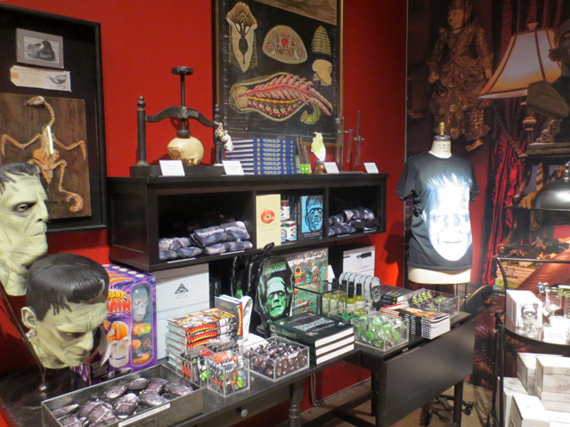 frankenstein related gifts at ago toronto giftshop for guillermo del toro exhibition