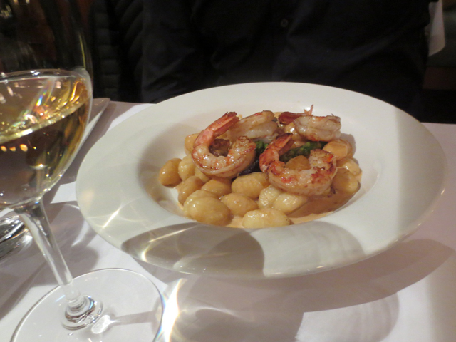 gnocchi with shrimp in lobster sauce echaude restaurant quebec city