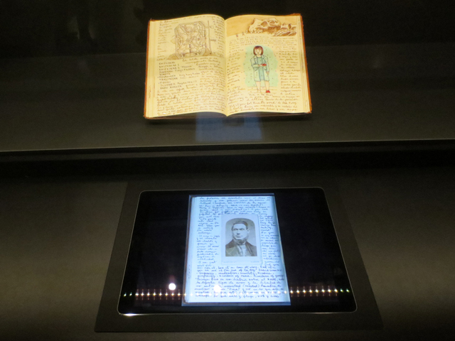 guillermo del toro notebooks with tablet interface at ago at home with monsters