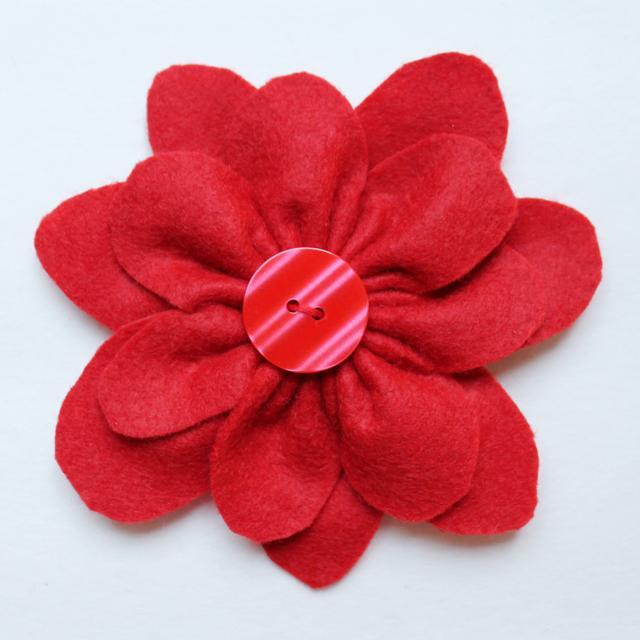 handmade gift bow topper felt flower