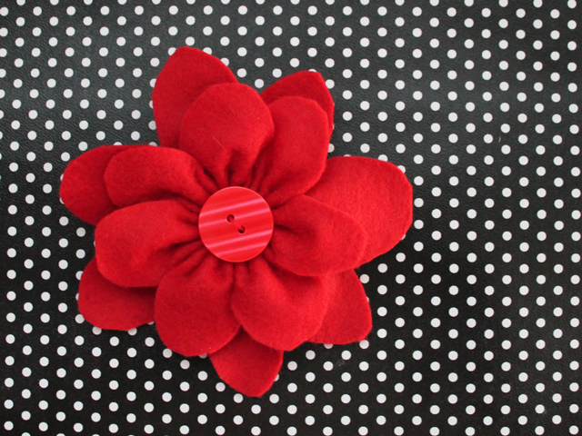 handmade gift topper felt flower easy diy