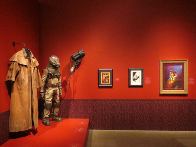 hellboy props and costumes at ago toronto guillermo del toro show
