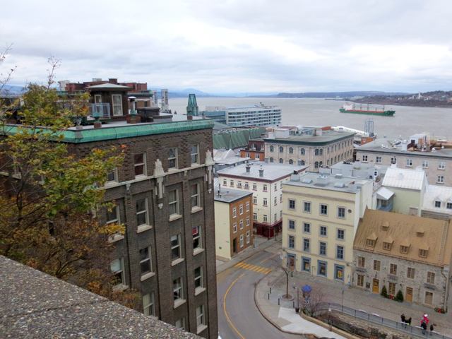 historic district quebec city canada on st lawrence river