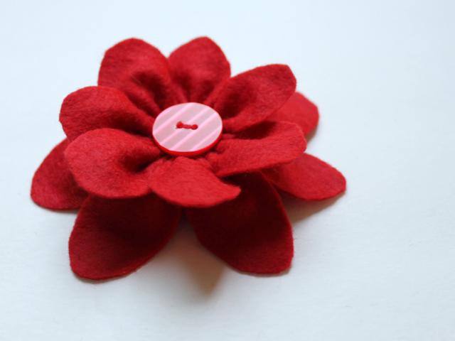 how to make a gift bow felt flower