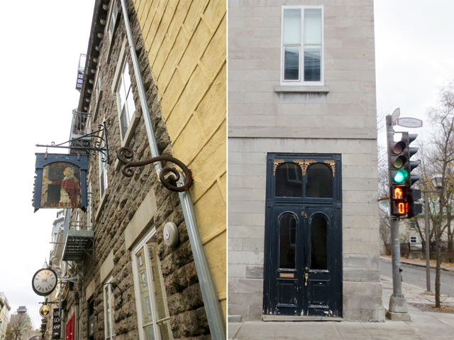 in historic part of quebec city