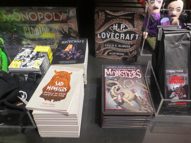 monster themed gifts at ago pop up shop for guillermo del toro exhibition toronto