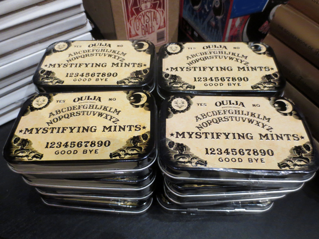 ouija mystifying mints at ago giftshop for guillermo del toro exhibition toronto