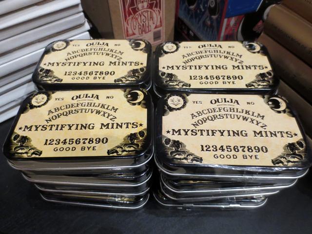 ouija mystifying mints at ago giftshop for guillermo del toro exhibition toronto