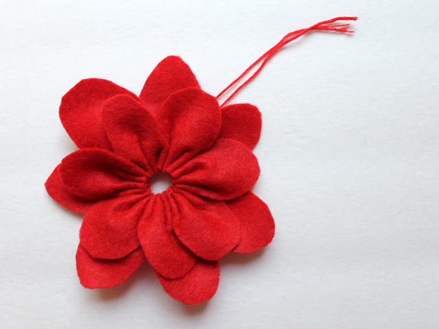 pull ends to make a flower