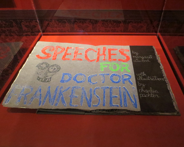 speeches for doctor frankenstein rare book by margaret atwood early poetry at ago at home with monsters exhibition